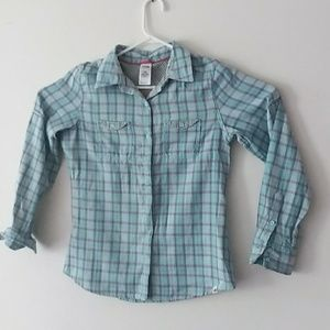 The North Face Plaid Button-down Sz M Blouse